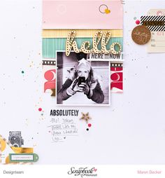 #papercrafting #scrapbook #layout - Absolutely ME! by confettiheart at @studio_calico