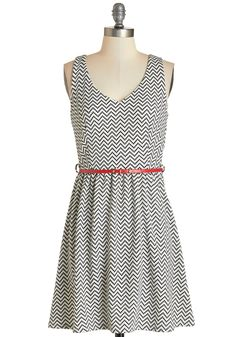 Shopping in the Sunshine Dress. The outdoor market seems even brighter today - is it the sunlight or this chevron tank dress youre wearing?  #modcloth