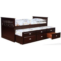 Bernards Captains Beds Captain's Bed with Trundle and Storage - Wayside Furniture - Captain's Bed Akron, Cleveland, Canton, Medina, Youngstown, Ohio