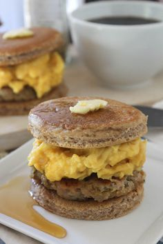 PaleOMG Pancake Breakfast Sandwiches