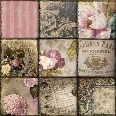 Patchwork Painting Mindy Sommers #vintagefrenchprintables
