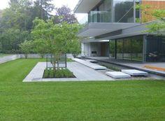 modern garden design on a budget Modern Garden Design, Contemporary Garden, Garden Landscape Design, Landscaping Plants, Front Yard Landscaping, Landscaping Design, Garden Architecture, Interior Garden, Outdoor Gardens