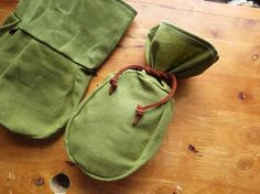 Forest Tinder Pouch Bushcraft Waxed Canvas by WoodlandsWanderer, $15.00
