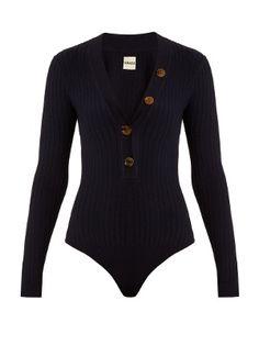 Marisol button-down ribbed-knit bodysuit | Khaite | MATCHESFASHION.COM US