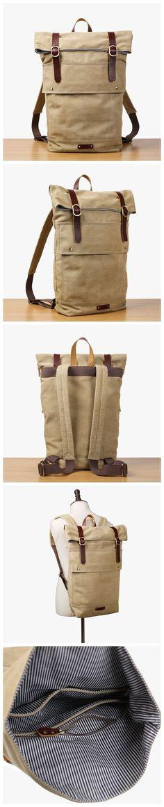 091d16d920 Flash Sale Roll Canvas Backpack Travelling Backpack Weekend Bag 16001 Canvas  Backpack