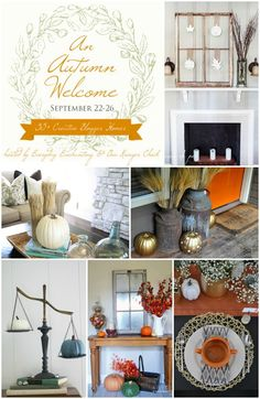 Fall Home Tour Part 1 - Entryway & Living Room - The Golden Sycamore