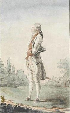 """""""M. le Comte de Durfort"""" by Louis Caroggis Carmontelle (1758)"""