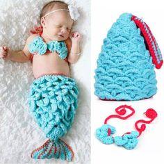 Lovely new baby girl Crochet Mermaid Costume Crochet Mermaid, Baby Girl Crochet, Crochet Baby Clothes, Baby Girl Baptism, Cute Mermaid, Newborn Photography Props, New Baby Girls, Baby Costumes, Baby Accessories
