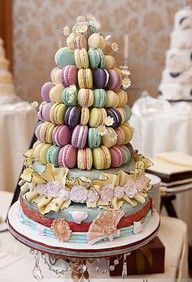 Marie Antoinette Tower of Sweets.  Party idea...