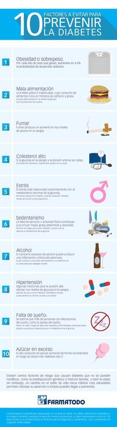 10 factores para prevenir la diabetes. #diabetes #salud #infografia