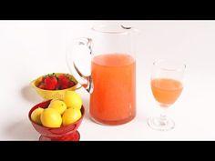 Homemade Pink Strawberry Lemonade - Laura Vitale - Laura in the Kitchen Episode 930 - YouTube