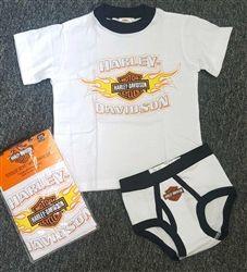 Harley-Davidson Motorcycles Toddler Boy Fleece Outfit Shirt /& Pants
