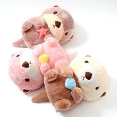 picture of Mucchiri Rakkun Plush Collection (Big) 2 Softies, Plushies, Cute Crafts, Diy And Crafts, Plushie Patterns, Softie Pattern, Plush Animals, Clay Animals, Sock Animals