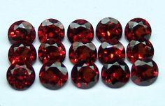 Masterpiece Natural Hot Red-Orange 4 MM Mozambique Garnet Cut (2) Round Loose