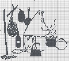 Cross Stitch Charts, Cross Stitch Patterns, Tove Jansson, Moomin, Pixel Art, Nerdy, Projects To Try, Snoopy, Embroidery