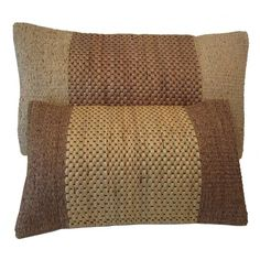 I pinned this 2 Piece Water Hyacinth Woven Pillow Set in Brown from the Siw Thai Silk event at Joss and Main!