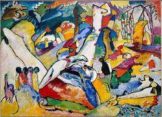 Wassily Kandinsky (Russian, 1866-1944), Sketch for Composition II (Skizze für Komposition II), 1909-10