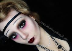 This is a Vampire make up, but with a few tweaks, it can be used for a cute zombie make up as well :)  Enjoy!!!