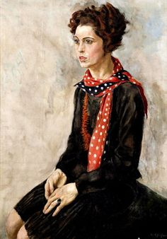 Portrait of Karola Neher, 1929 by Rudolf Schlichter (1890-1955)