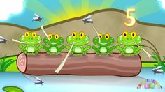 Five Speckled Frogs - Nursery Rhymes TV  Go with 5 speckled frogs activity