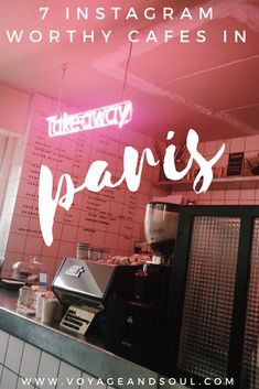 7 Instagram Worthy Cafes in Paris, plus attractions within walking distance // Looking for some of the most picture perfect yet yummy cafes in Paris? Here is a guide to help you for your next Paris visit! | voyageandsoul.com