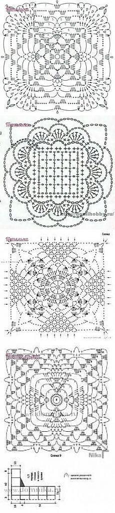ideas for crochet coasters square stitches