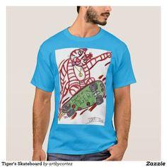 Tiger's Skateboard T-Shirt