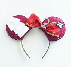 Disneybound Captain Hook Mickey Ears https://www.etsy.com/listing/266442677/captain-hook-ears-peter-pan-captain-hook