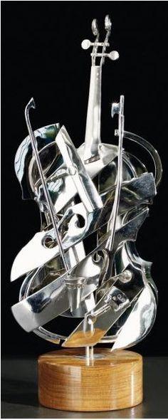 Pierre Fernandez Armand; ARMAN (French-American, 1928-2005) - Violin Silver