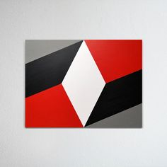 Hard-edged painting / geometric abstraction by British artist Gary Andrew Clarke Geometric Quilt, Geometric Art, Simple Canvas Paintings, Canvas Art, Hard Edge Painting, Best Friend Drawings, School Murals, Arte Country, 3 Piece Wall Art