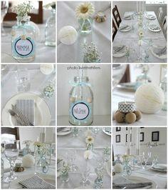 Hvit og lys pynt - fra Livet i trettifem  http://www.livetitrettifem.com/search/label/D%C3%A5p