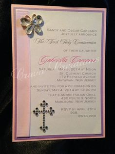 Butterfly 1st Communion Invitation by CravoCreation on Etsy, $3.50