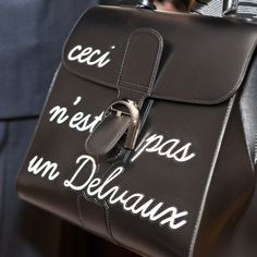 Humeur du Brillant 'L'Humour' Box Calf Noir - The #Delvaux private dinner in #Antwerp in June 2015