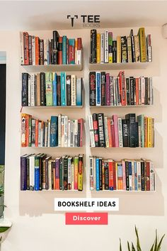 Create the best #bookcase with TEEbooks floating shelves! The very heart of #book fans can be found by the way they manage their volumes. Book readers practice their possession with maximum care because books are not a printed unit for them, they are the solution to a complex world of creativity. Floating Bookshelves, Wall Bookshelves, Bookshelf Design, Wall Mounted Shelves, Bookcase, Morrison Homes, Contemporary Shelving, Bibliotheque Design, Hoop Dreams
