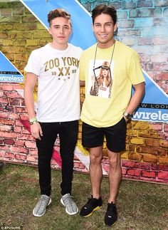 Bromance: Brooklyn Beckham and Joey Essex proved to be unlikely pals on Friday as the Wire...
