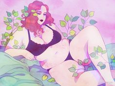 Drawings Ideas Leaves Poster - Art created by, and belonging to me. / All products printed and shipped by RedBubble. Character Art, Character Design, Plus Size Art, Fat Art, Drawing Reference, Art Girl, Art Inspo, Art Drawings, Graffiti