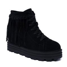 GET $50 NOW | Join RoseGal: Get YOUR $50 NOW!http://www.rosegal.com/boots/increased-internal-fringe-lace-up-short-731877.html?seid=6564316rg731877