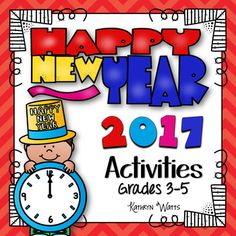 New Years 2017 Literacy and Math activities.