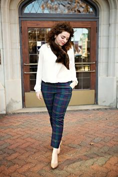 Baby, You're So Classic - plaid pants, fur stole