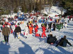 Park Kaivopuisto, Helsinki 12.2.2013. Laskiainen event