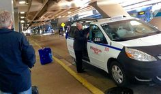 Uber-high stakes: Taxi/ride-share wars pulling up at O'Hare  Byron Wigodner of Buffalo Grove gets into a taxi at O'Hare International Airport. Traditional cabs will face competition from ride-shares soon.