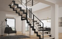 Schody Neolama - Rintal Wooden Stairs, Home Decor, Wooden Staircases, Wooden Ladders, Decoration Home, Room Decor, Home Interior Design, Hardwood Stairs, Wood Stairs