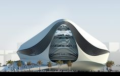 Located in Dubai, UAE. The Museum of Middle Eastern Modern Art (MOMEMA) is a beautiful futuristic architecture that was designed by UNStudio Architecture Design, Futuristic Architecture, Contemporary Architecture, Amazing Architecture, Chinese Architecture, Futuristic Design, Unusual Buildings, Amazing Buildings, Modern Buildings