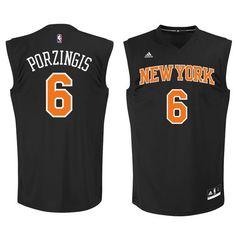 Knicks 6 Kristaps Porzingis Black Fashion Replica Jersey New York Knicks 0da320a371e2