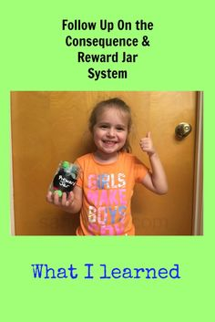 What I Learned From Our Consequence and Reward Jar System #parenting #children #behavior