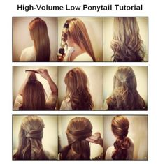 High-Volume Low Ponytail Tutorial~perfect for date nights or special occasions!