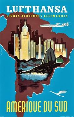 vintage buenos aires travel poster - Google Search