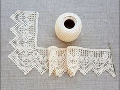 Hand crocheted border, fillet crochet lace trim, linear or turning edge for home decor, wide lace border, cream fine crochet handmade edging Crochet Lace Collar, Crochet Lace Edging, Crochet Borders, Crochet Flowers, Crochet Stitches, Crochet Patterns, Filet Crochet, Crochet Sheep, Crochet Baby