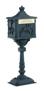 The Amco Victorian Pedestal Mailbox looks to be transported to your house from another, simpler time. This classic Victorian mailbox sits on an ornate. Wall Mount Mailbox, Mounted Mailbox, Victorian Mailboxes, Residential Mailboxes, Diy Mailbox, Victorian Era, Pedestal, Locks, It Cast