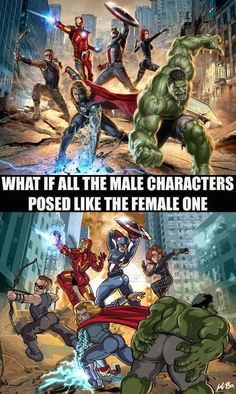 What if all the male characters posed like the female one